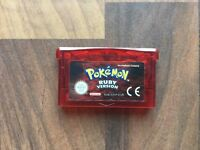 Genuine Nintendo Pokemon: Ruby Version (Nintendo Game Boy Advance, 2003)