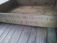 Old 1977 wooden trug ideal for seedlings or herb planters. Portsmouth, North End