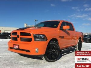 2017 Ram 1500 SPORT**ORANGE**SUNROOF**NAVIGATION**