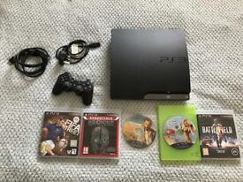 PS3 console plus games