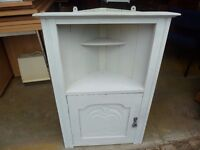 White Shabby Chic Corner wall Unit Delivery available lg