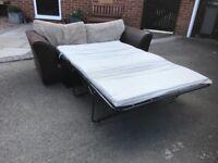 Metal Action Sofa Bed & Matching Sofa Settee