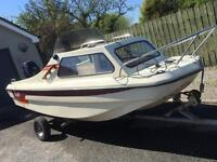 Dory 16 foot boat with 20hp engine like new
