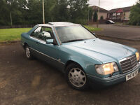 Mercedes e220 w 124 coupe 2,2 petrol,1994 year,mot 07.05.2018. price 2550 ono.
