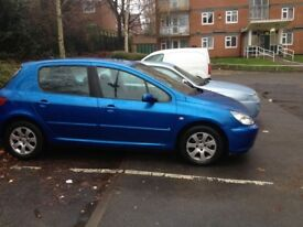 peugeot 307 1.6s petrol very good condition drive well have problem just bell need to change still d