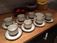 Denby set of teacups and side plates