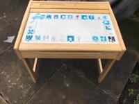 Child's wooden storage desk