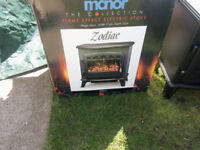zodiac electrice fire brand new bought for £120 then decided to change the room round.