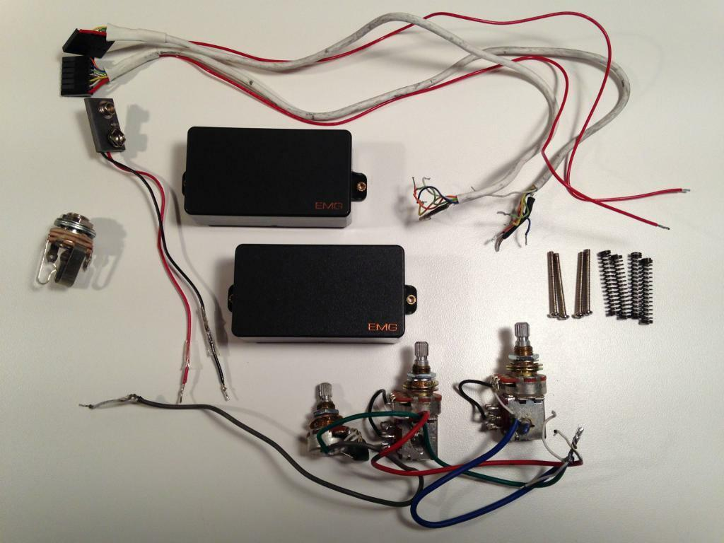 EMG 81TW & EMG 89 Active Guitar Pickups with Coil Tap Options (Similar to  EMG