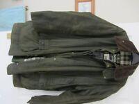 "Barbour Border Mens Wax Jacket. Chest size 42""/107cm Length 36""/92cm green finish"