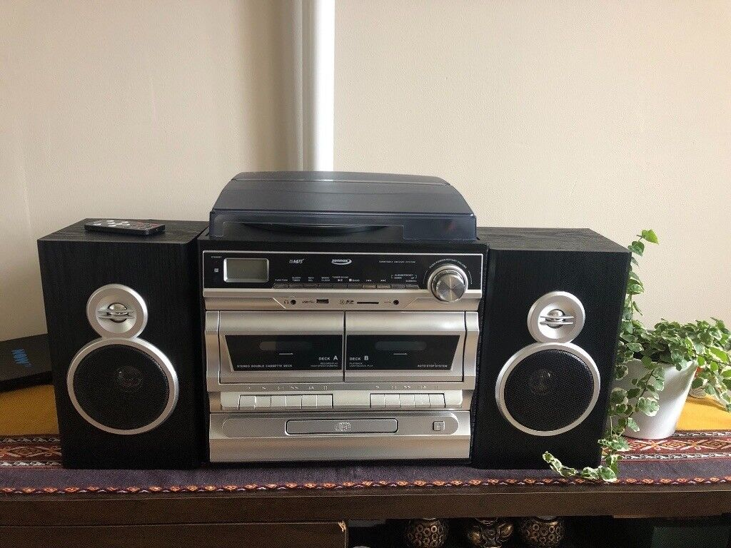 """""""Zennox 6-in-1 Midi hi-fi music system"""" including Record player, CD, radio  and tape 
