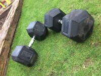 42.5kg dumbbells