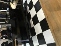 Shop Fit - Small Bespoke Black Formica Table
