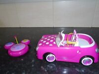 girls pink minnie mouse remote control car
