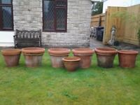 Terracotta pots - extra large - frost proof