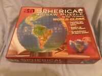3D Spherical Puzzle-World Globe