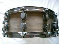Mapex mahogany-ply snare drum 14 x 5 1/2- Prototype - Ex-Oasis - '90s