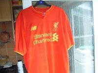 LIVERPOOL FC TOP STANDARD CHARTERED LARGE AS NEW ONLY £10