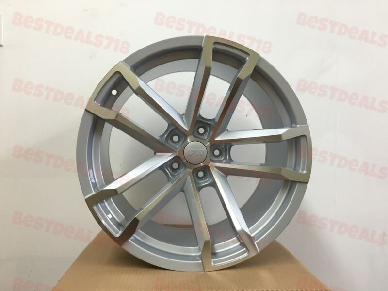 """20x9.0/20x10"""" Silver Machine Face Staggered Zl1 Style Rims Fits Chevrolet Camaro"""