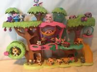 Littlest pet shop play tree house and characters