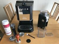 Coffee machine and grinder