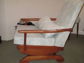 Comfortable spring loaded rocking chair