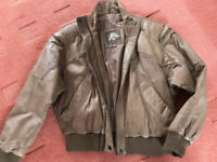 GENUINE LEATHER BOMBER JACKET - BRAND NEW