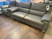 Grey leather sofa 3+1