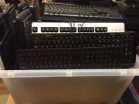 Computer keyboards - 36 in total, job lot