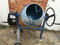 Scheppach Mix 125 230 V Cement Mixer in fetching blue