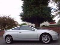 12 MONTHS WARRANTY! IMMACULATE! TOYOTA CELICA (PREMIUM+SPORT Pack) BLACK LEATHER - Low Mileage - FSH