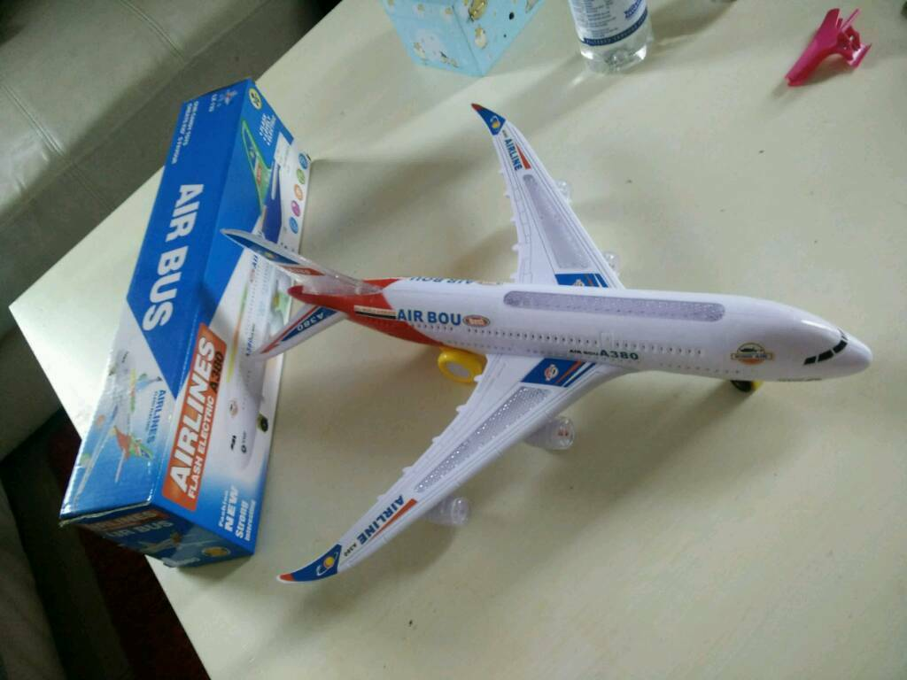 New Large Airplane Toy - Flash, Electric, Sounds