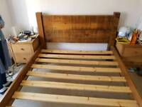 Chunky King Size Wooden Bed Frame