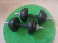 york dumbbels. giftable condition 12£