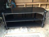 For sale Tv stand black and chrome