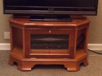 TV Stand IN YEW WOOD