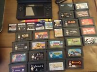 Ds lite with ds and gba games