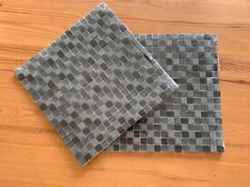 Tiles- veranda grey, black and stone. 2 x 30cm by 30cm sheets