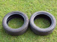 "TWO 195 50 15"" Part Worn Tyres 7mm / 6mm ** £20 For The Pair **"