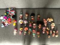 Bundle of lol dolls and accessories
