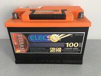 Elecsol 100 Carbon Fibre leisure battery still under guarantee