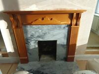 Gas fire, Fire Surround, granite backing and granite hearth.
