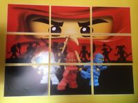 Lego ninjago wall art