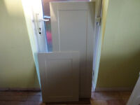 PAIR OF GREY MAGNET DOORS FOR A 500MM TALL LARDER UNIT