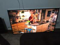 Samsung 60 inch smart tv fully HD built in wifi ( with blue Line in the screen
