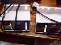 PAIR OF VINTAGE HORNBY TRAIN SET POWER SUPPLY/SUPPLIES POWER UNITS CONTROL CENTRE 905