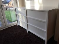 Ikea double malm chest of drawers