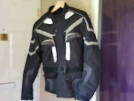 Textile motorcycle jacket small mens