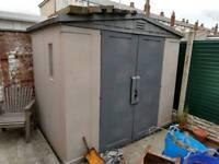 Keter plastic garden storage shed 8 x 6