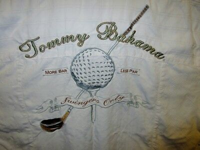 Hawaiian Golf Ball - Tommy Bahama M 45 Hawaiian Shirt Golf Club Swingers Only Silk Ball More Bar Par